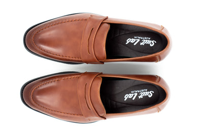 Mens Brown Penny Loafers