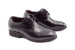 Mens London Derby Shoes - Matte Black