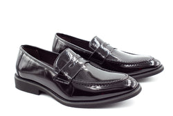 Mens Oslo Loafers - Patent Black