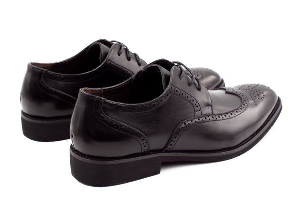 Mens Dublin Brogue Shoes - Black