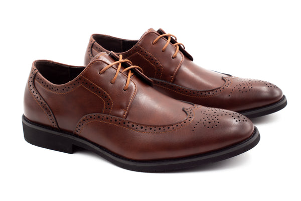 Mens Dublin Brogue Shoes - Brown