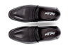 Mens Black Penny Loafers