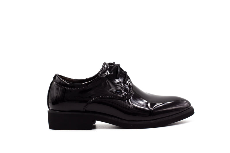 London Derby Shoes - Patent Black