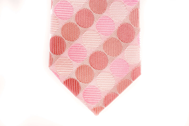 Pink with Multicoloured Polka Dots Skinny Tie