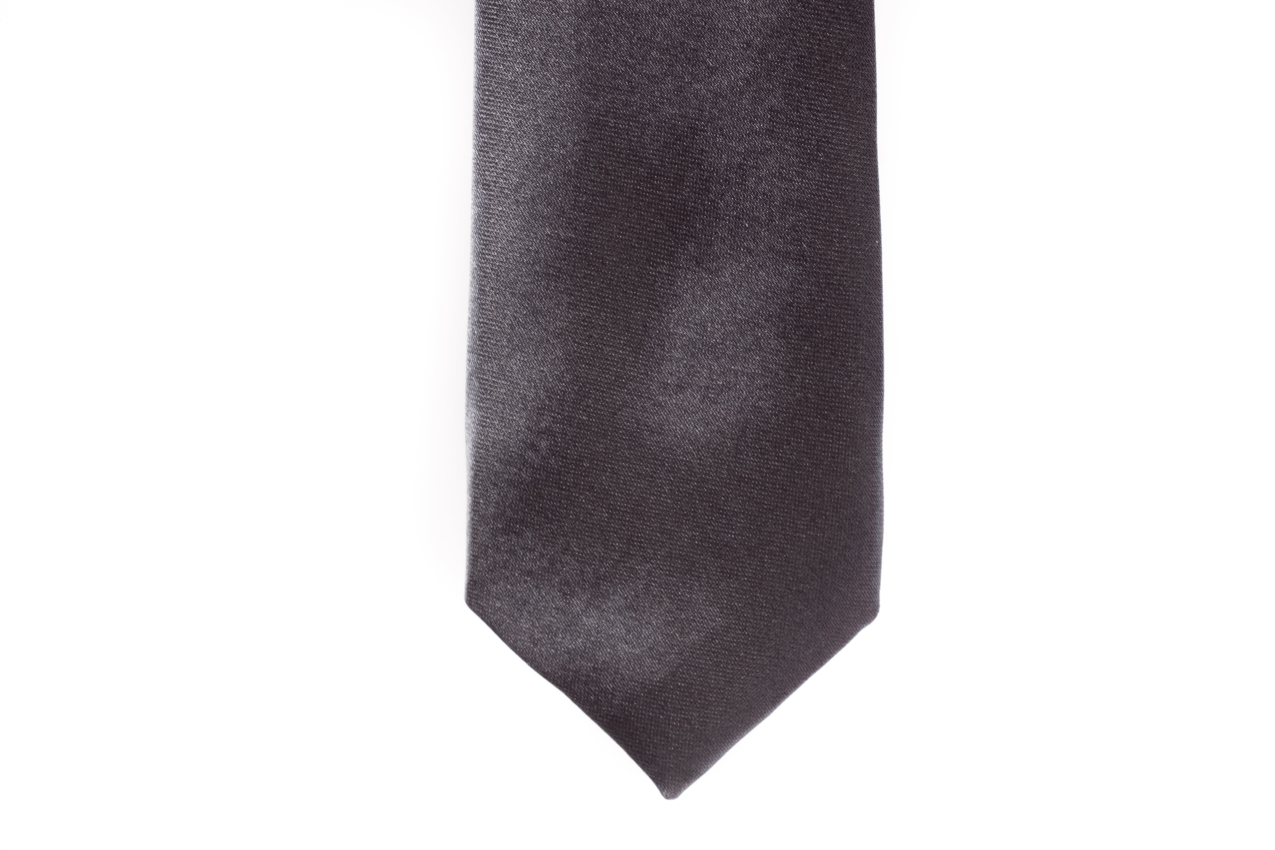 Men Ties - Charcoal Grey