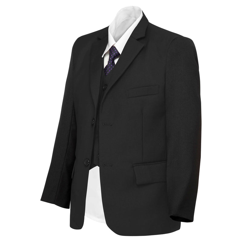 Boys Matte Black Suit