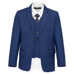 Boys Matte Navy Suit