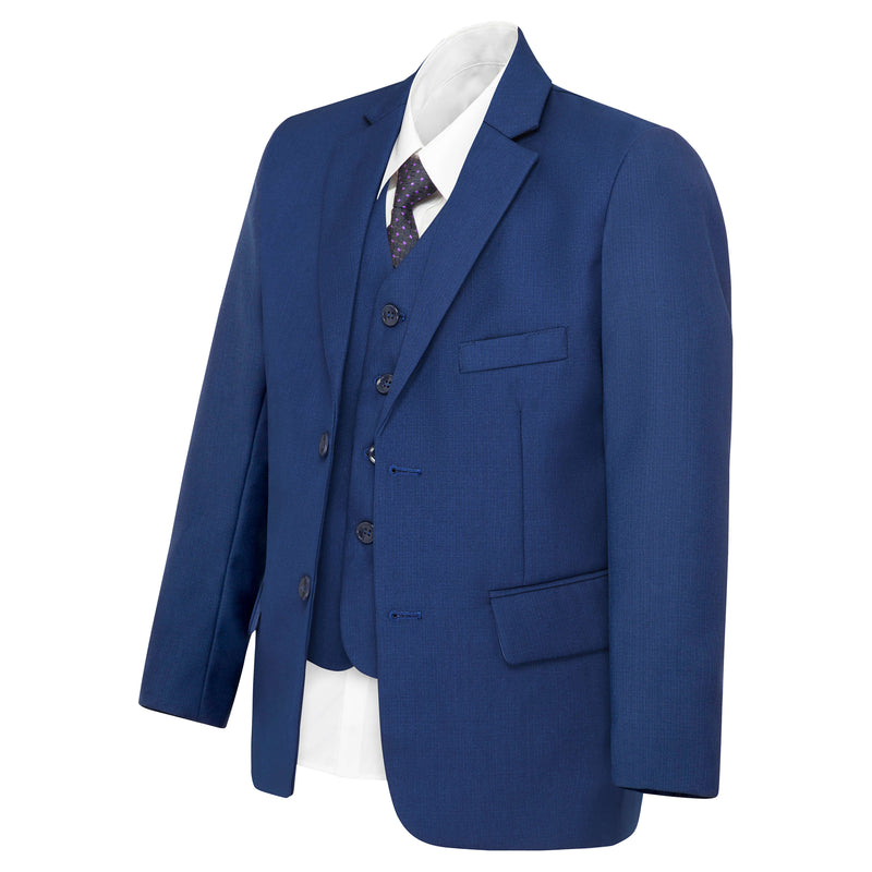 Boys Matte Navy Blue Suit