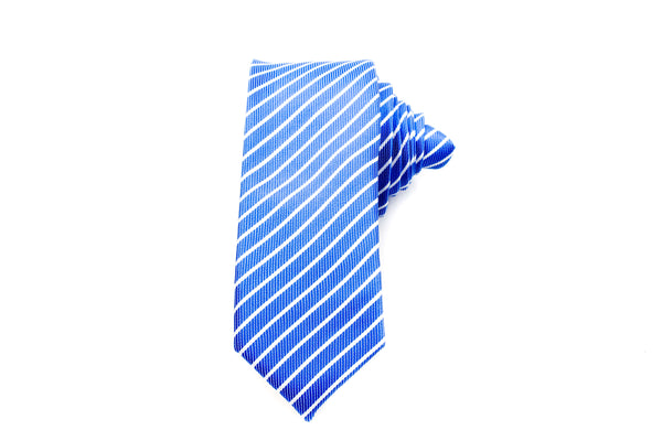 Sky Blue Stripes Skinny Tie