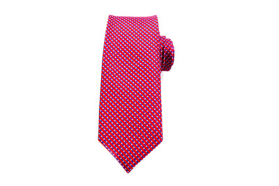 Red Mutli Stripe Skinny Tie