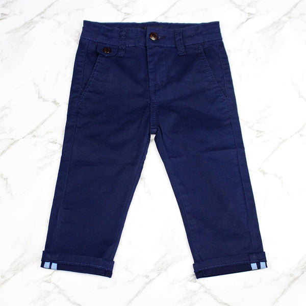 Boys Chino Pants - Navy Blue
