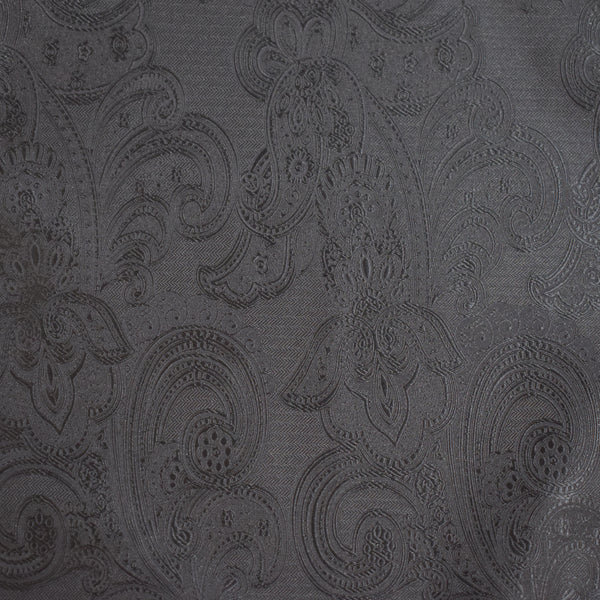 Mens Neck Tie - Black Paisley
