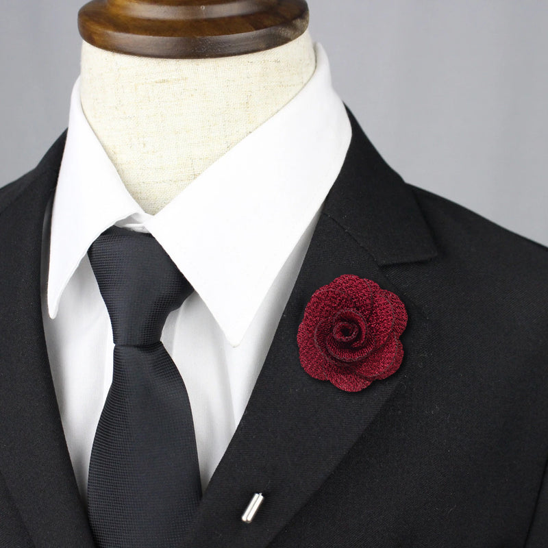 Petal Lapel Pin - Burgundy