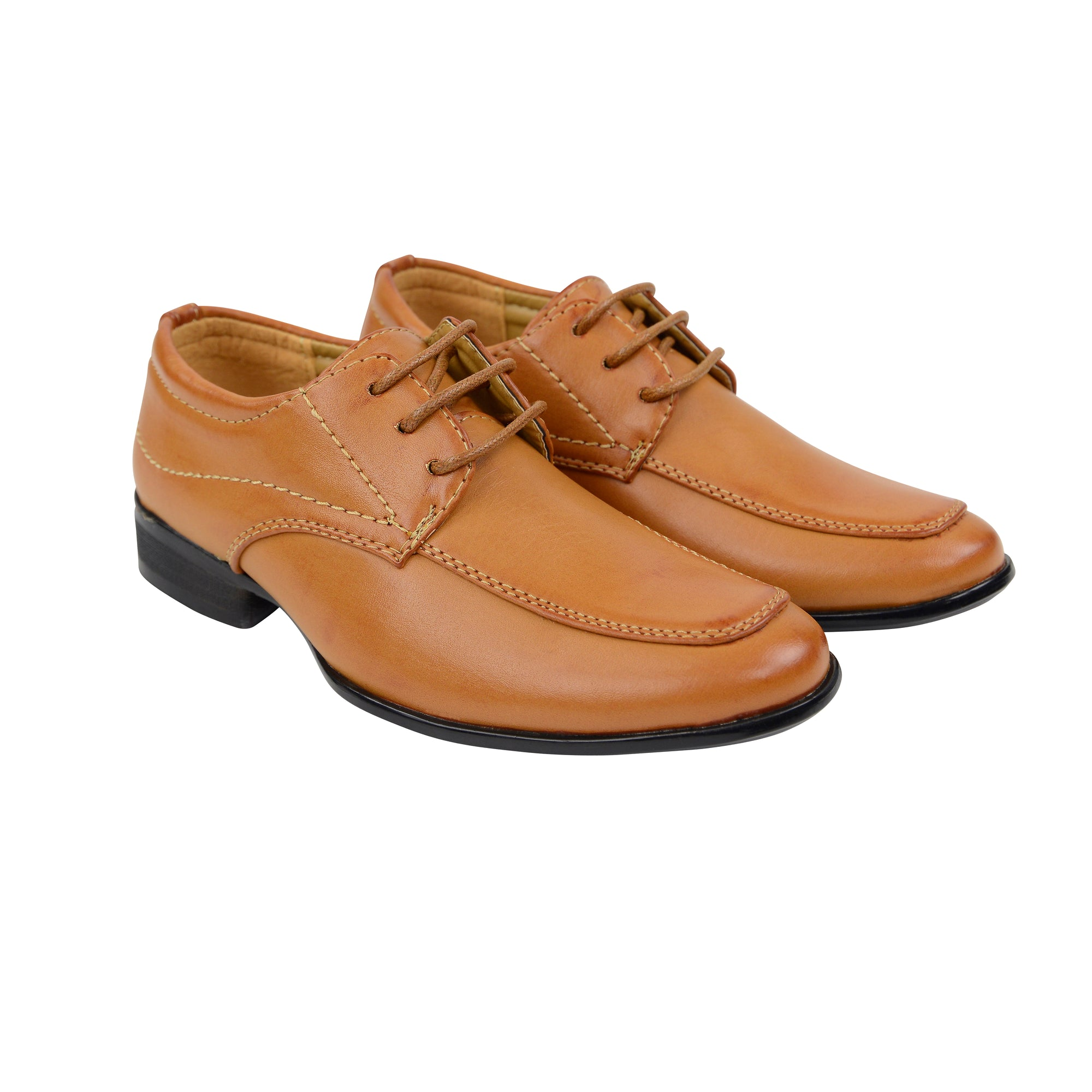 Boys Lace Up Shoes - Tan