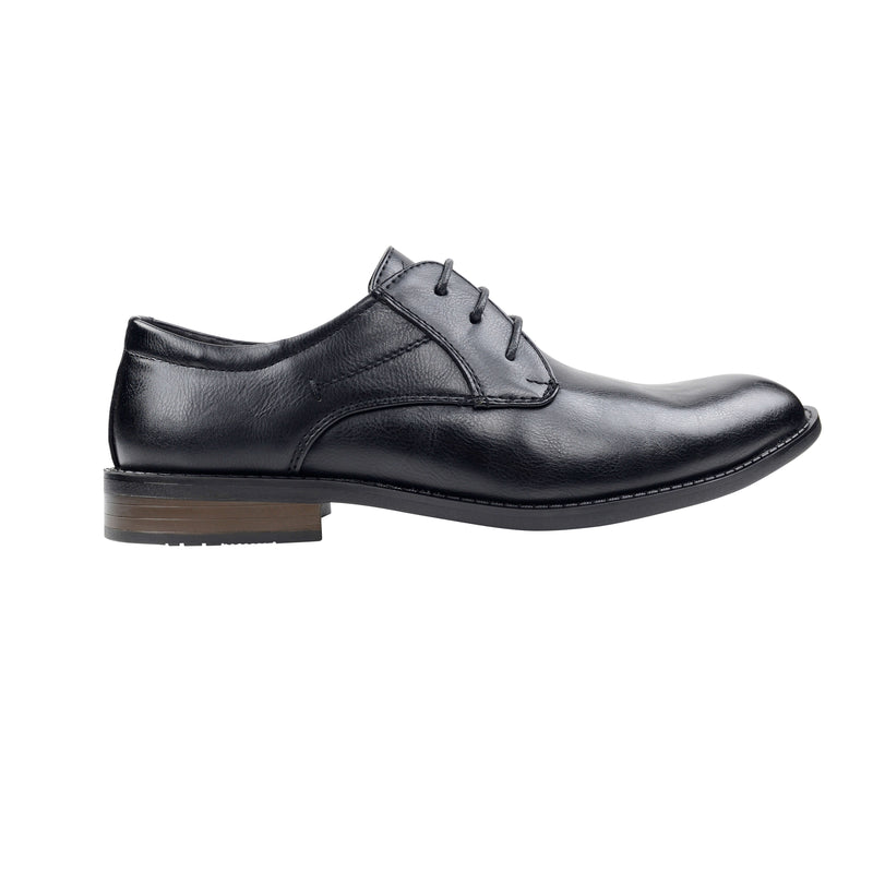 Mens Derby Matte Black Lace Up Shoes