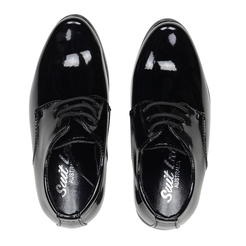 Berlin Derby Shoes - Baby Patent Black