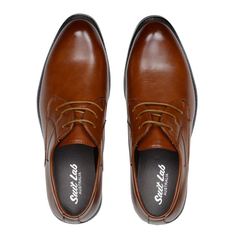 Mens Derby Brown Lace Up Shoes