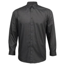 Mens Dress Shirt Black Textured