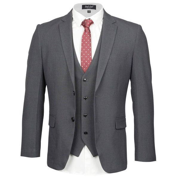 Mens Dark Grey Suit