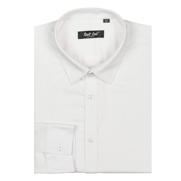 Mens Dress Shirt White