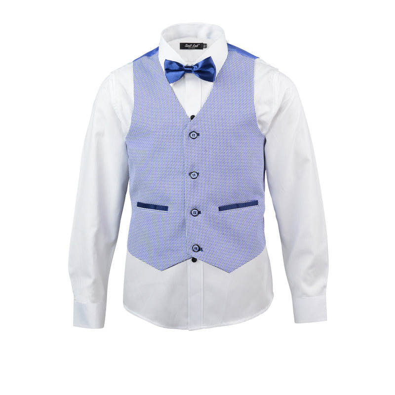 Boys Sky Sanders Suit with Navy Blue Pants