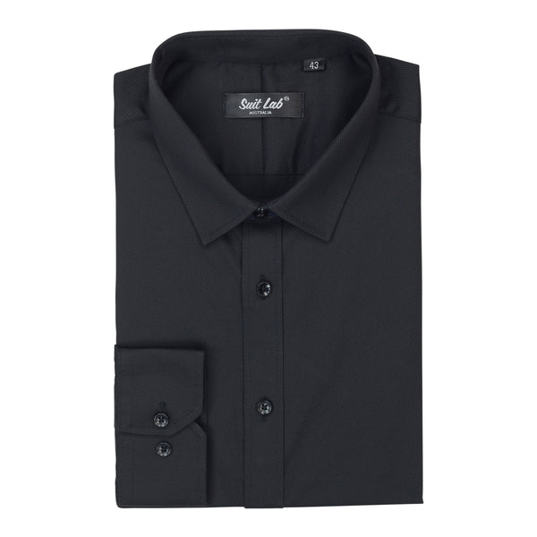 Mens Black Twill Shirt