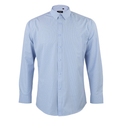 Mens Light Blue Textured Dress Shirt