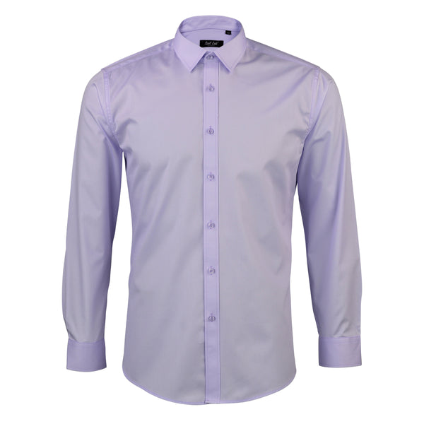 Mens Lilac Twill Tux Shirt