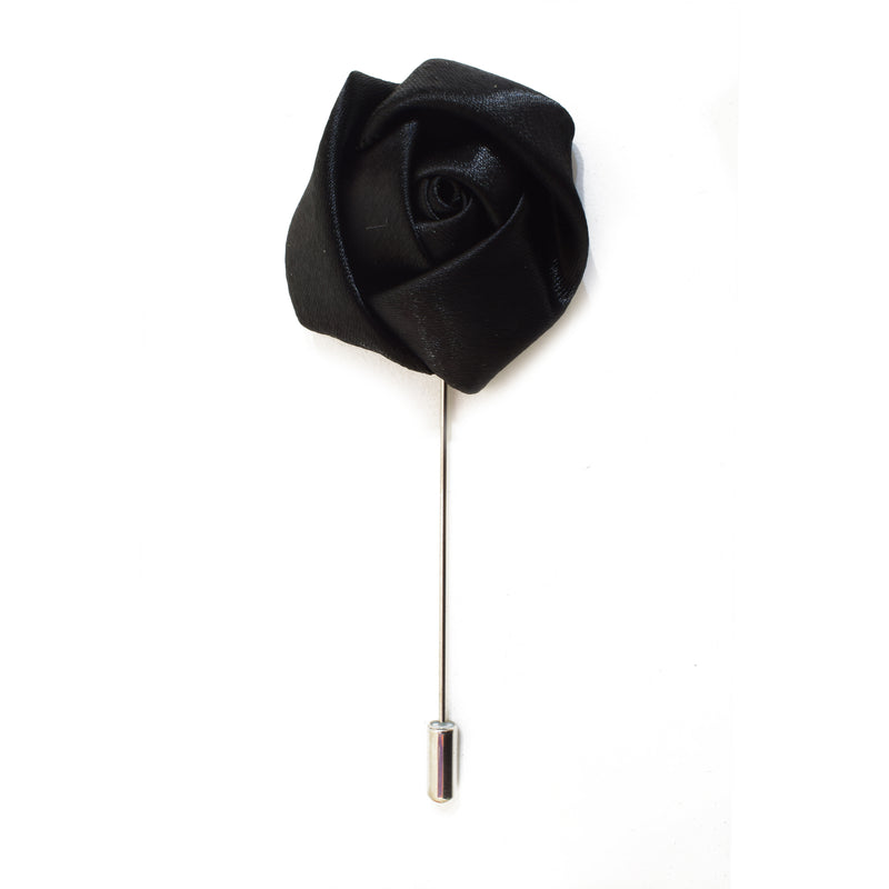 Rose Lapel Pin - Black