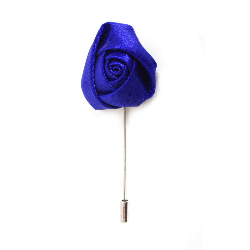 Rose Lapel Pin - Electric Blue