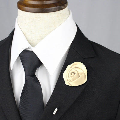 Rose Lapel Pin - Ivory