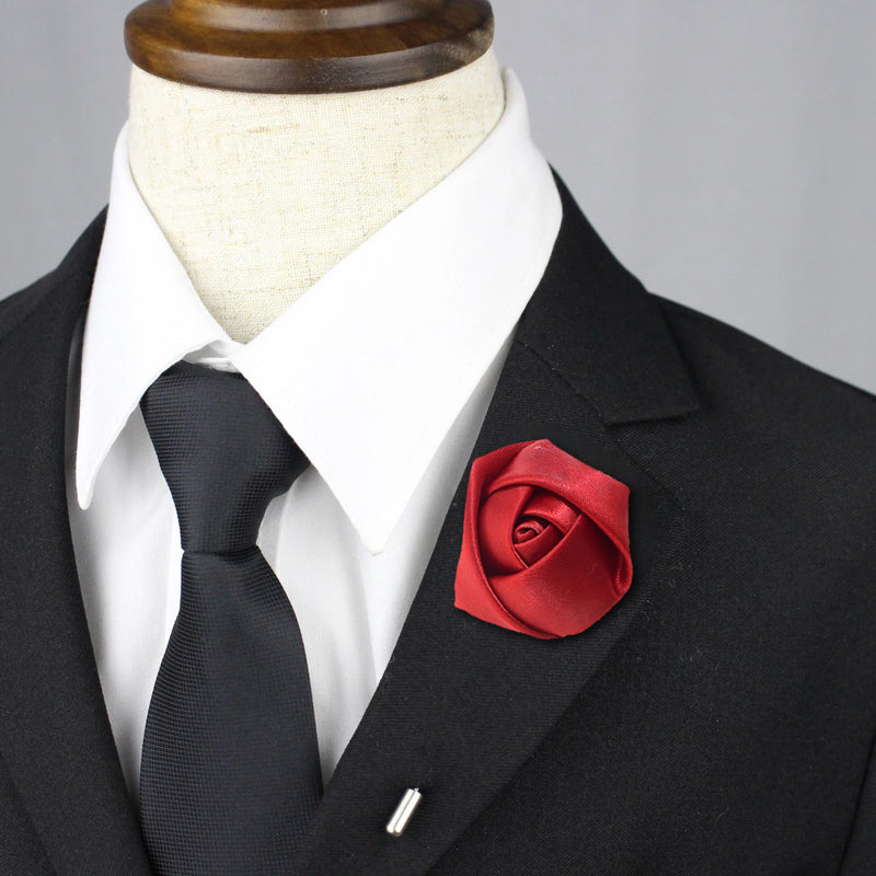 Rose Lapel Pin - Red