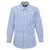 Boys Blue Windowpane Checkered Formal Shirt
