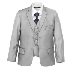 Boys' Bone Grey Suit