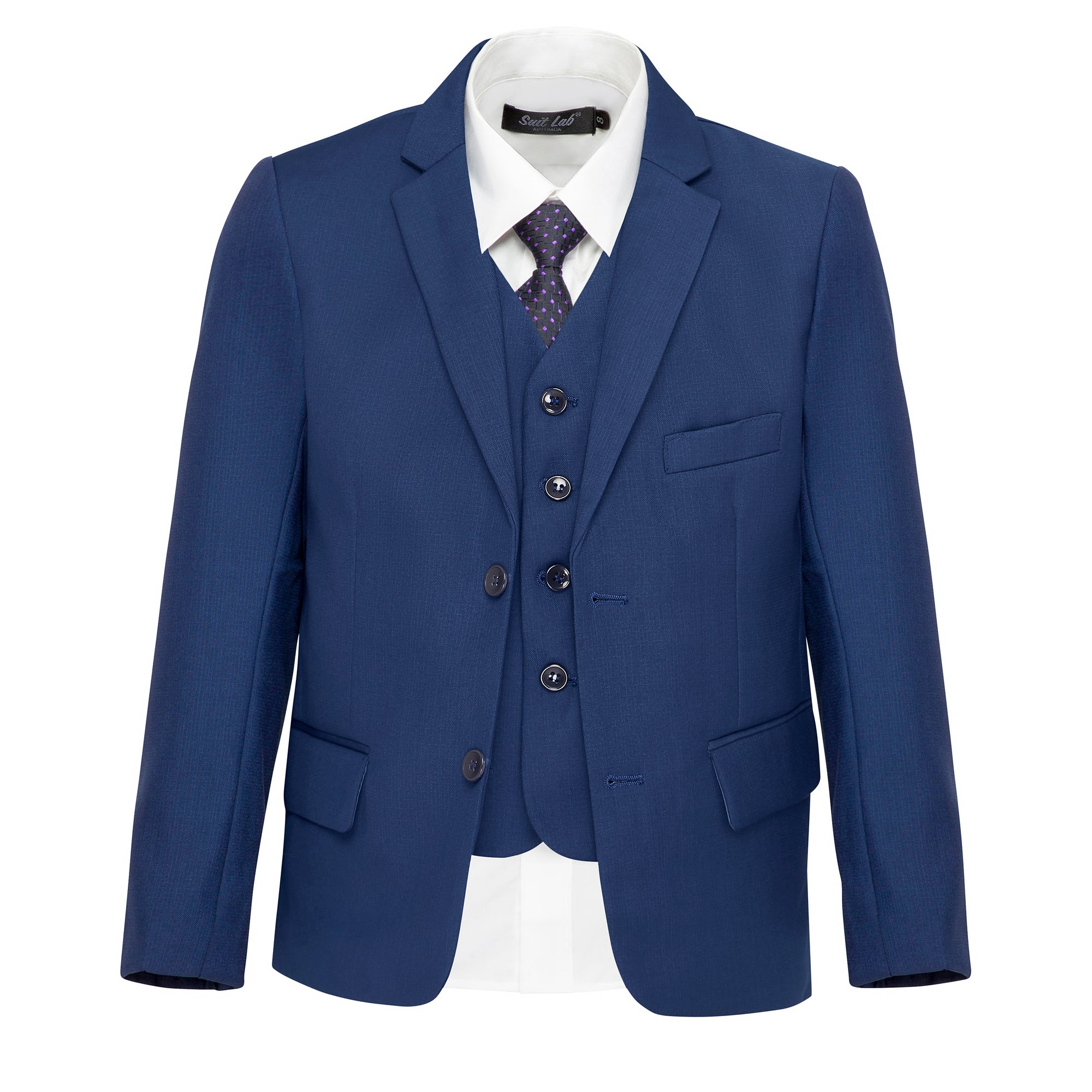 Boys' Matte Navy Jacket