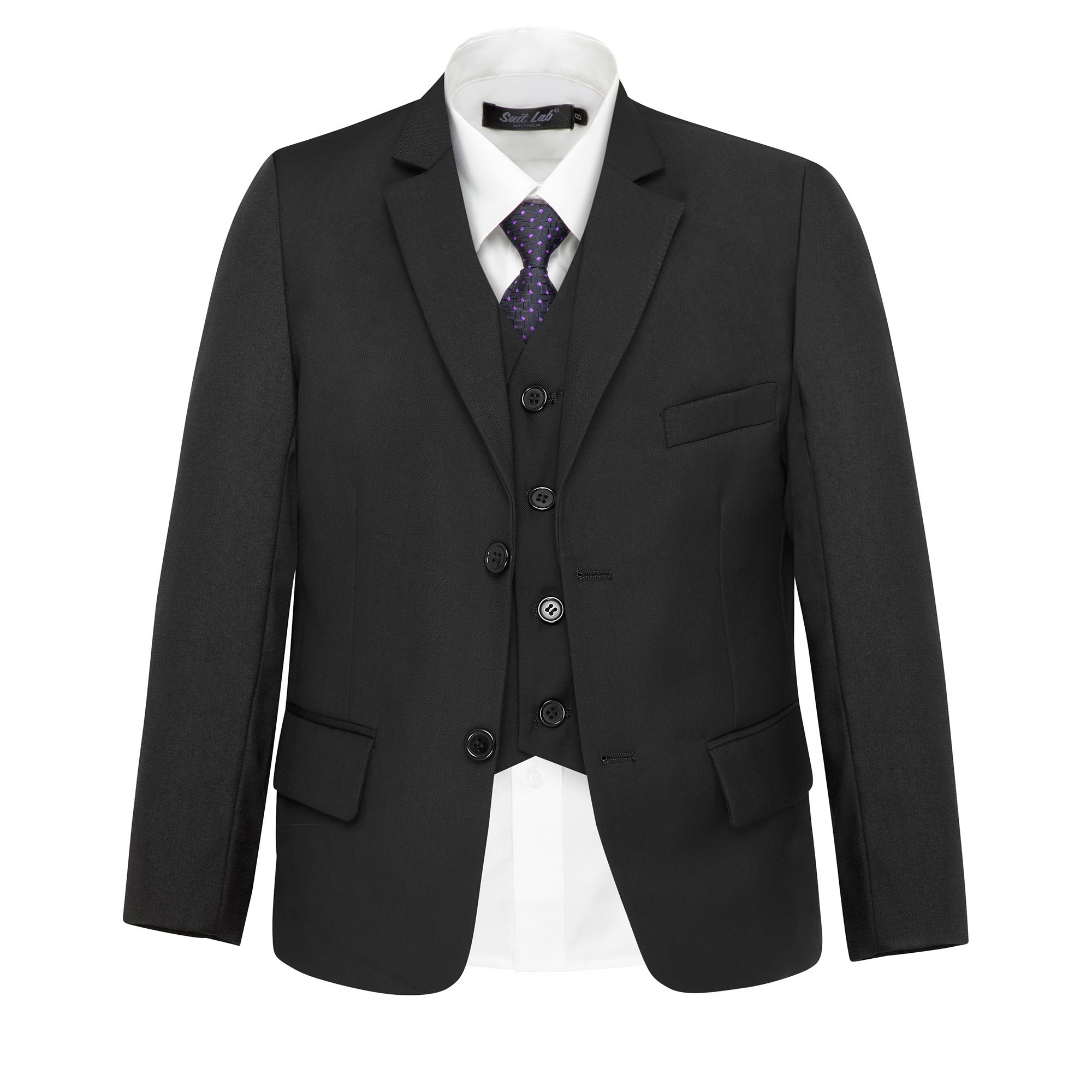 Boys' Matte Black Jacket