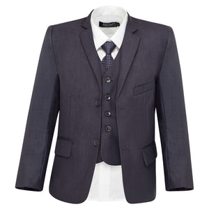 Boys Blue Steel Grey Suit