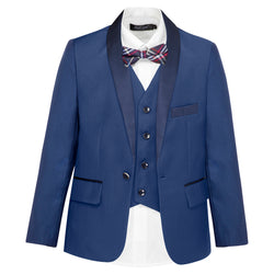 Boys' Navy Shawl Lapel Jacket