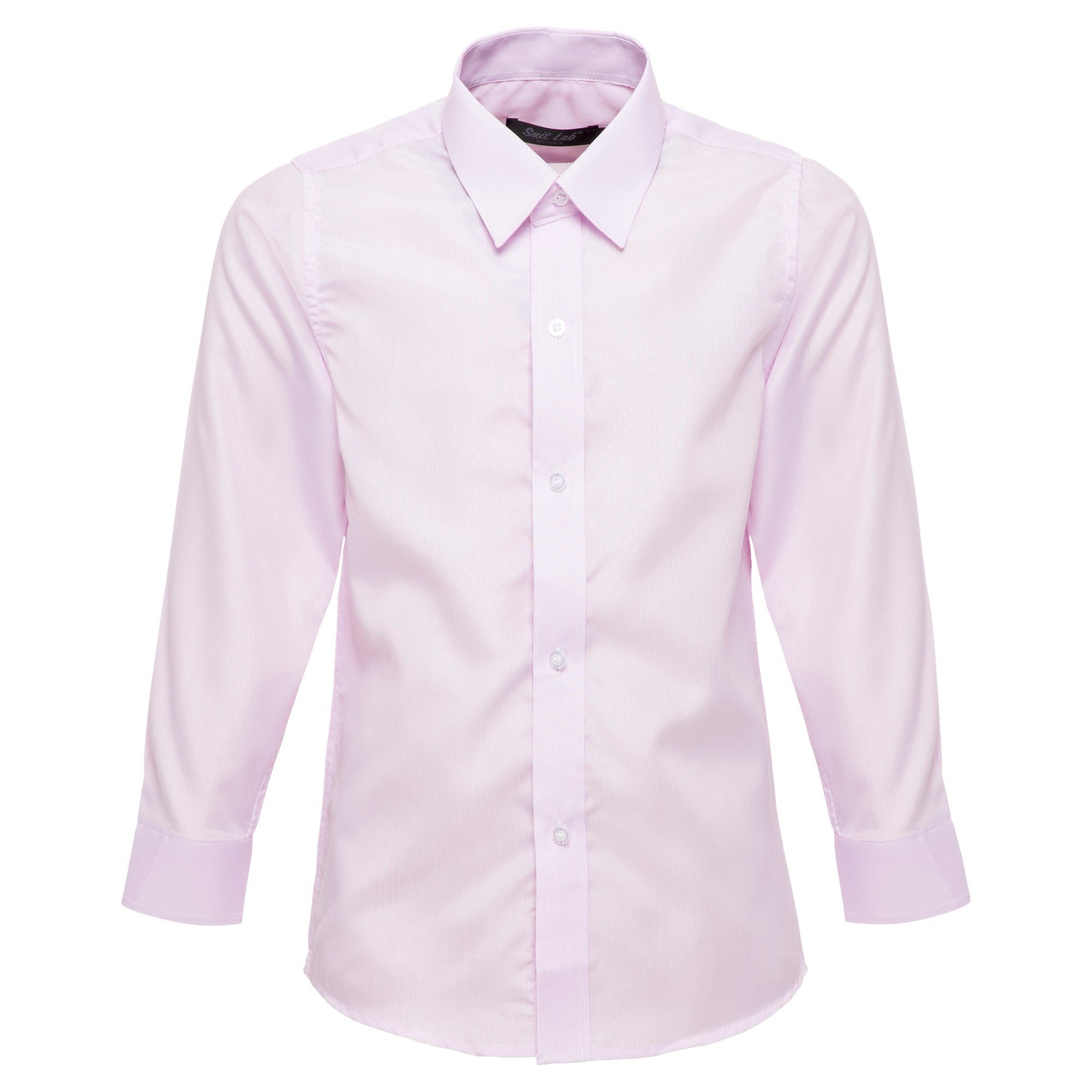Boys Pink Striped Formal Shirt