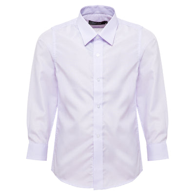 Boys Purple Striped Formal Shirt