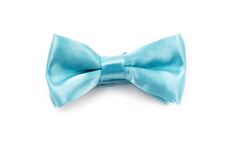 Boys Bow Tie - Coral Blue