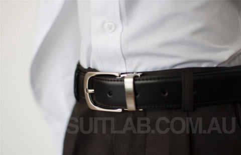 Mens Leather Belt - Clasp Buckle