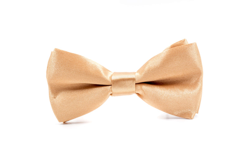 Boys Bow Tie - Beige Gold