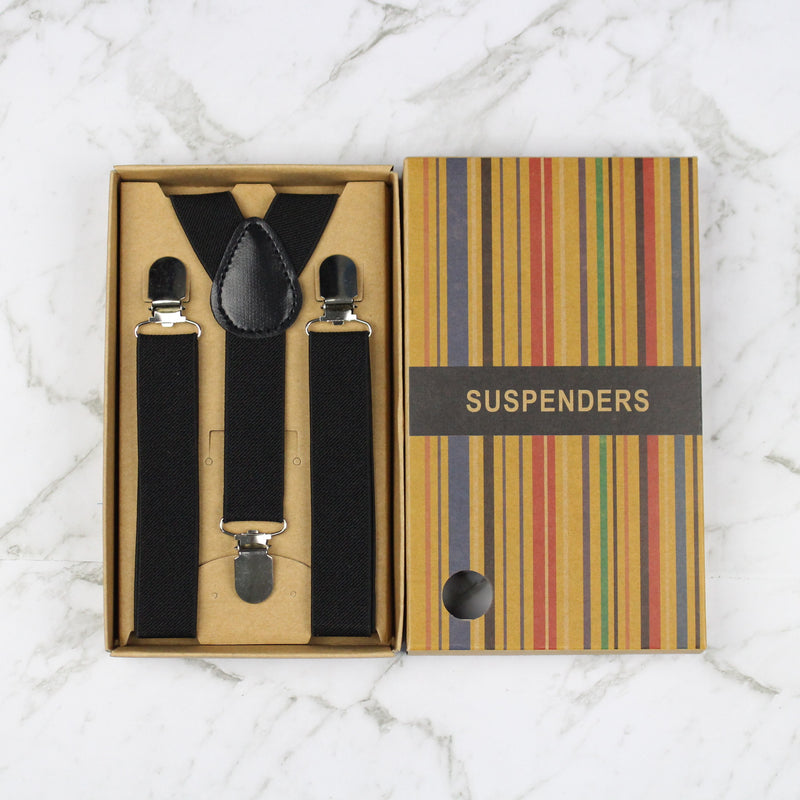 Boys Suspenders/Bracers - Black