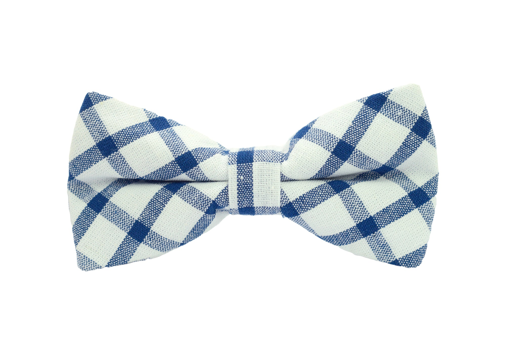 Boys Bow Tie - Blue and White Checkered