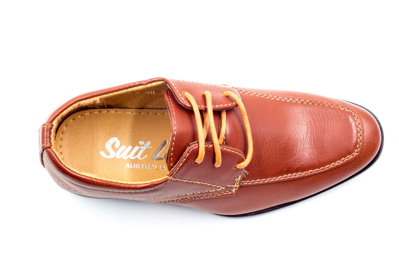 Sydney Derby Shoes - Red Brown