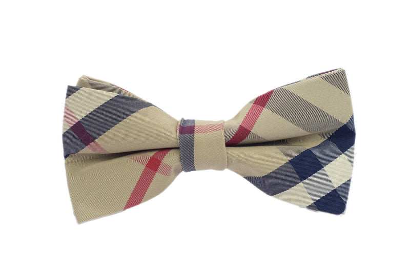 Boys Bow Tie - Brown Checkered
