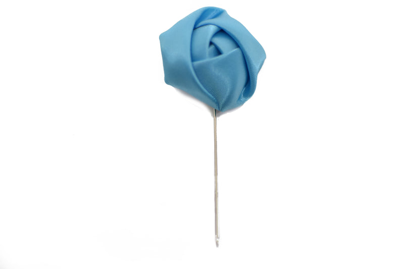 Lapel Pin - Rose Sky Blue