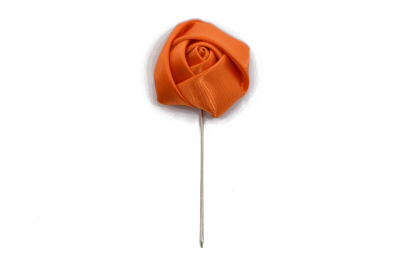 Lapel Pin - Rose Orange