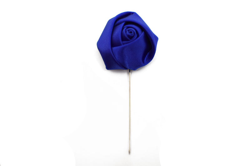 Lapel Pin - Rose Electric Blue